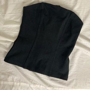 Black cotton bustier